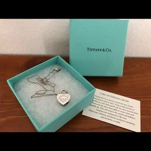 Tiffany & Co 925 silver heart lock necklace